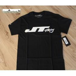 Tricou Jt Negru Logo Alb