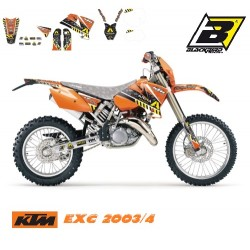 Kit Grafice Ktm exc 03-04 Arma Energy